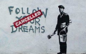 Banksy follow your dreams black mommy blog yardyspice